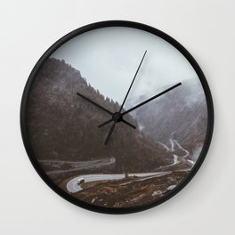 Cars and Curves Wall Clock