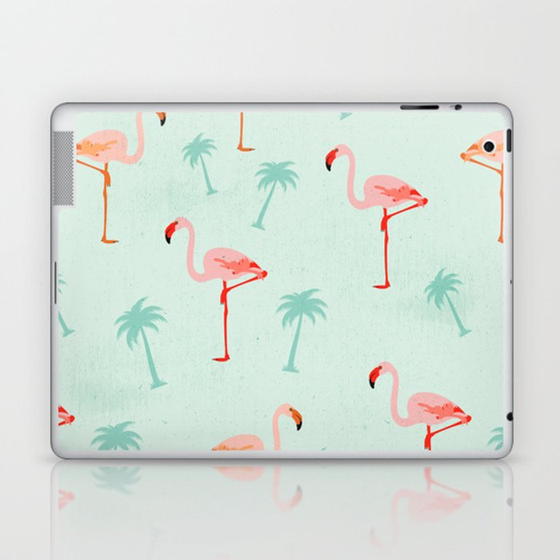 Vintage Flamingos Laptop & iPad Skin
