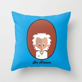 Dr Brown Throw Pillow