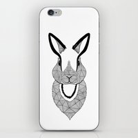 rabbit iPhone & iPod Skins featuring Rabbit by Art & Be