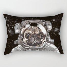 Astronaut Pug Selfie Rectangular Pillow