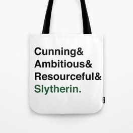 Modern Slytherin House Traits Tote Bag
