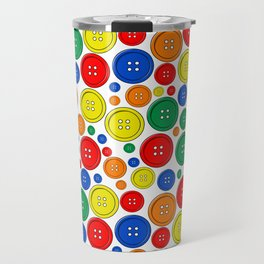 colorful scattered buttons Travel Mug