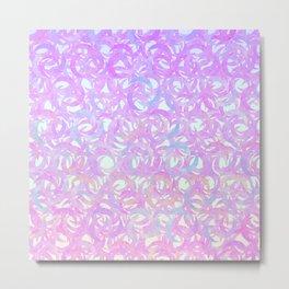 Purple Crescents Metal Print