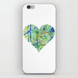 green abstract heart iPhone Skin