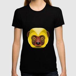 Diademed Sifaka Lemur Head Flat Icon T-shirt
