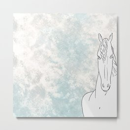 Homage to horse Metal Print
