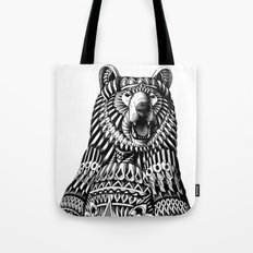 Ornate Grizzly Bear Tote Bag