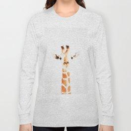 Giraffe watercolor Long Sleeve T-shirt