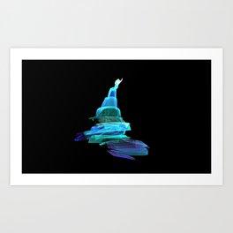 A DROP OF BLUE  Art Print