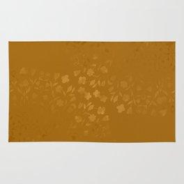 Golden Floral Bouquets Rug