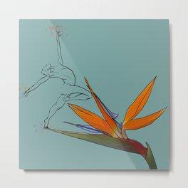 Ballerina on bird of paradise Metal Print