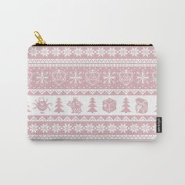 """Roll for Initiative Fair Isle in """"Frosting"""" Carry-All Pouch"""
