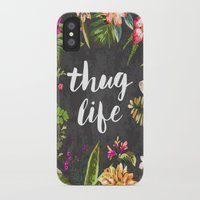 blood iPhone & iPod Cases featuring Thug Life by Text Guy