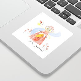 Summer Knitter Sticker