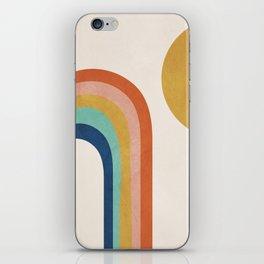 The Sun and a Rainbow iPhone Skin