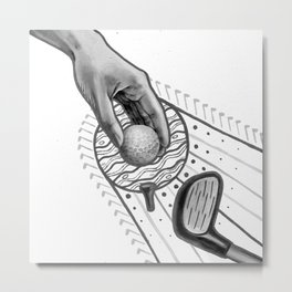 Golf swing Metal Print