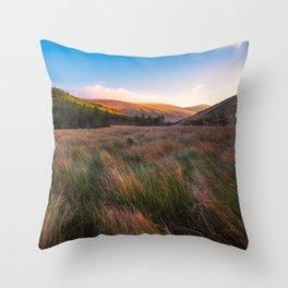 Orange Mountains - Ireland ( RR 258) Throw Pillow