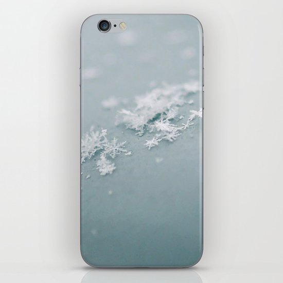 Snow flakes iPhone Skin