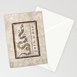 Join or die Stationery Cards