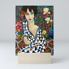 Woman in Robe Mini Art Print