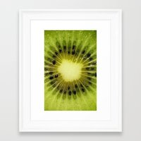 kiwi Framed Art Prints featuring KIWI by Oksana Smith