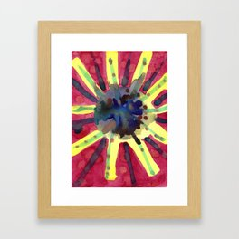 Explosive Sun Framed Art Print