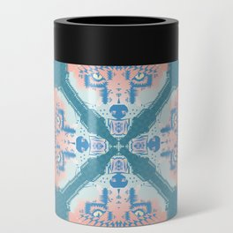 Pastel Fox Pattern Can Cooler