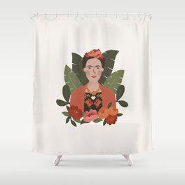 Frida Kahlo Portrait Shower Curtain