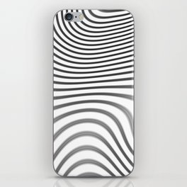 Organic Abstract 02 WHITE iPhone Skin