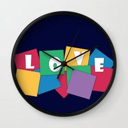 Love, geometric Wall Clock