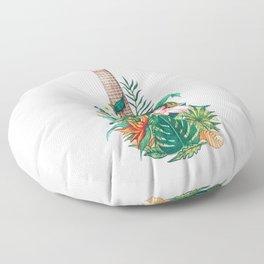 Tropical Ukulele Floor Pillow