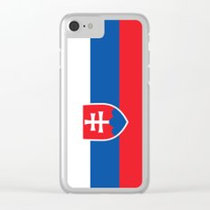 Slovakian Flag - High Quality Image Clear iPhone Case