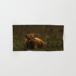Scottish Highland hairy cow Hand & Bath Towel