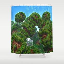 Bacterium Hedgerow Shower Curtain