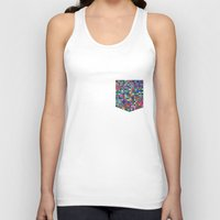 stained glass Tank Tops featuring stained glass by spinL