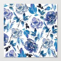 Royal Blue Garden 02 Canvas Print