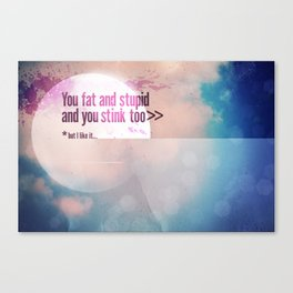I LIKE U Canvas Print