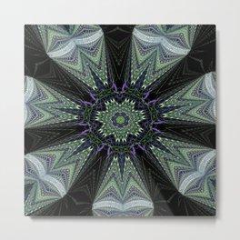 Reflecting Pattern Mandala 1 Metal Print
