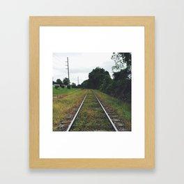 Wrong Side of the Tracks Framed Art Print