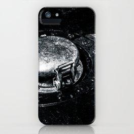 Gas Tank Locking Cap Black White iPhone Case