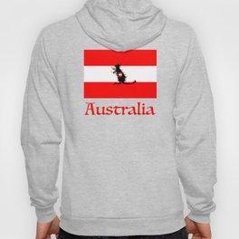 Australia - Kangaroo on Austrian Flag Hoody