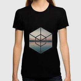 Tranquil Landscape Geometry T-shirt