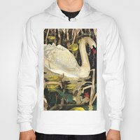 swan Hoodies featuring Swan by Lara Paulussen
