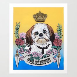 The Shihtzu Art Print