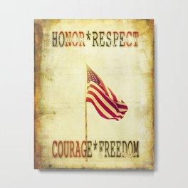 Waving USA Flag Metal Print