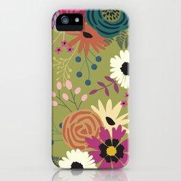 Verde Floral iPhone Case