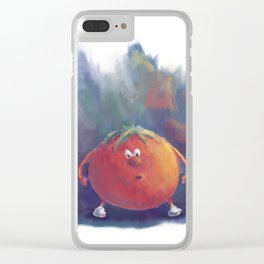Tomato Dismay by dana alfonso Clear iPhone Case