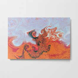 Sea of flames. Metal Print