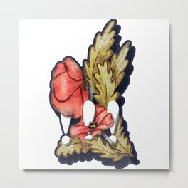 Exclamation Poppies Metal Print